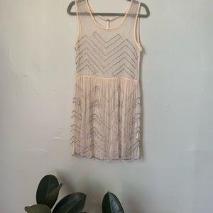 Beaded sheer dress
